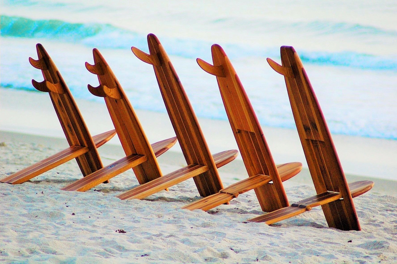 Bombwatcher Surfboard Chairs by Surf Life Designs