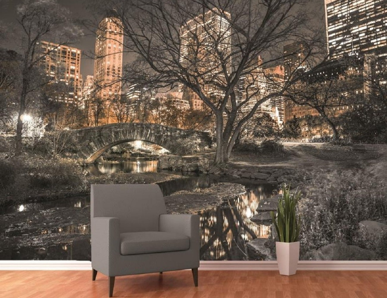 Central park wall mural gadget flow for Mural wallpaper