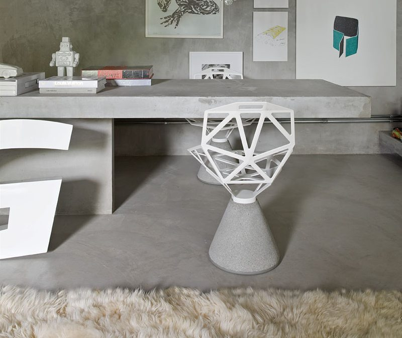 Chair One with Concrete Base by Magis