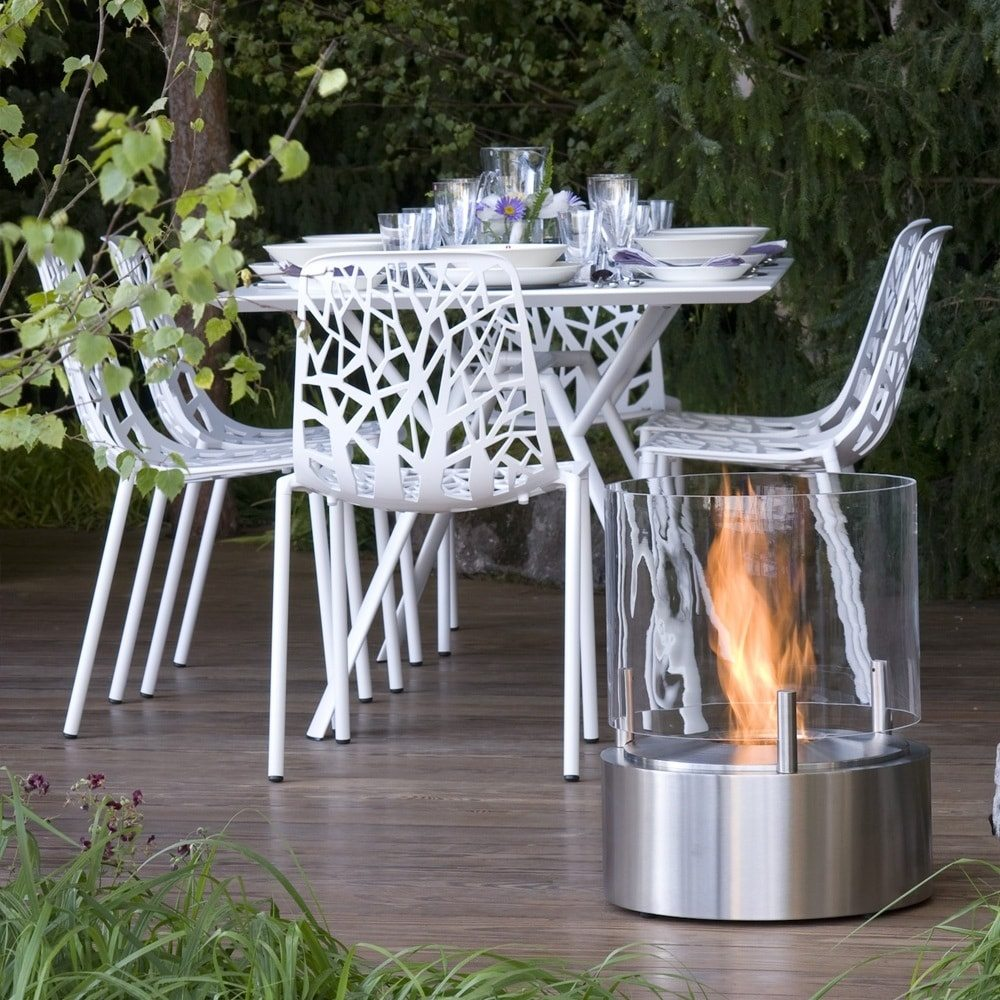 Cyl Outdoor Fireplace by EcoSmart Fire