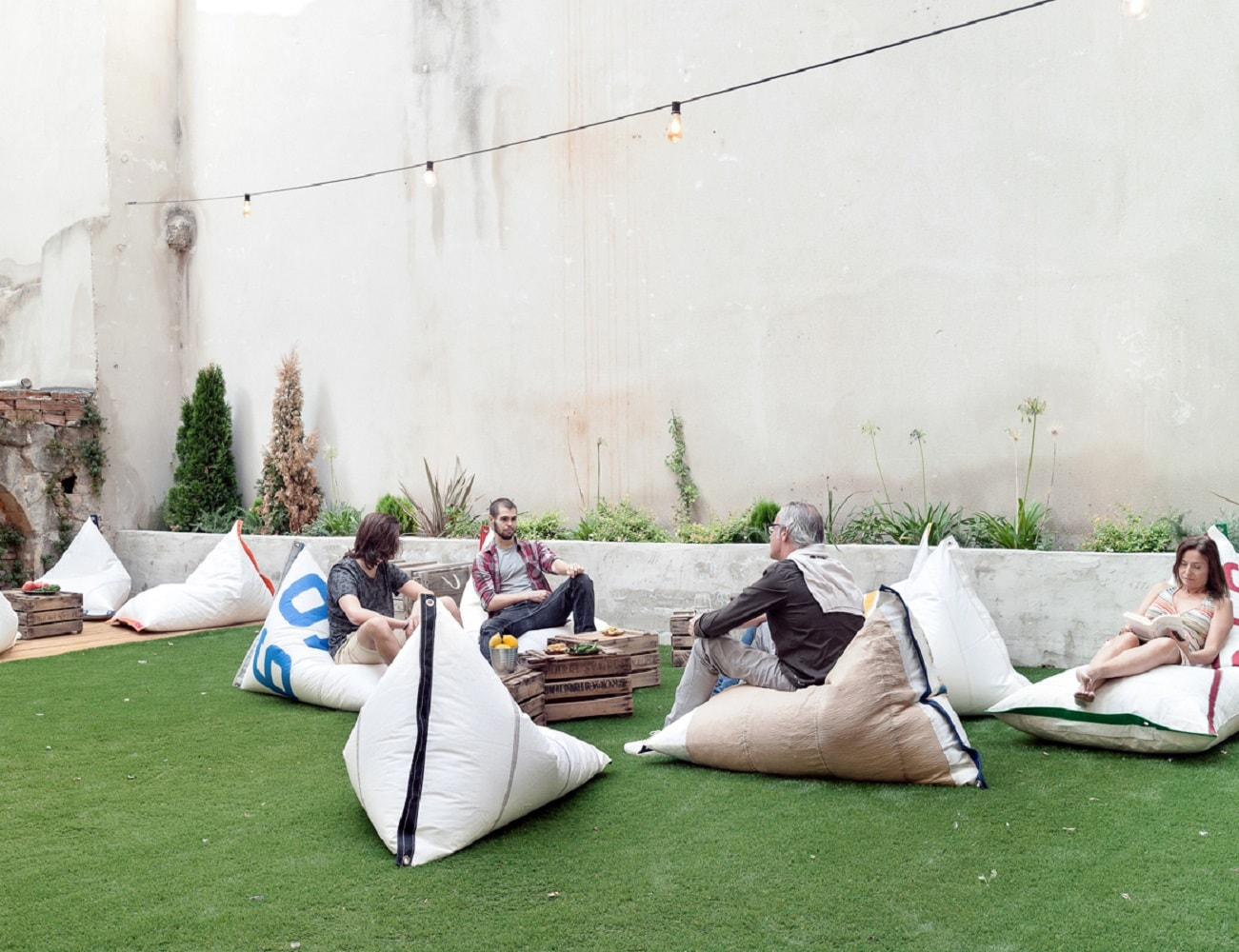 Genois Limited Recycled Sail Fabric Beanbag