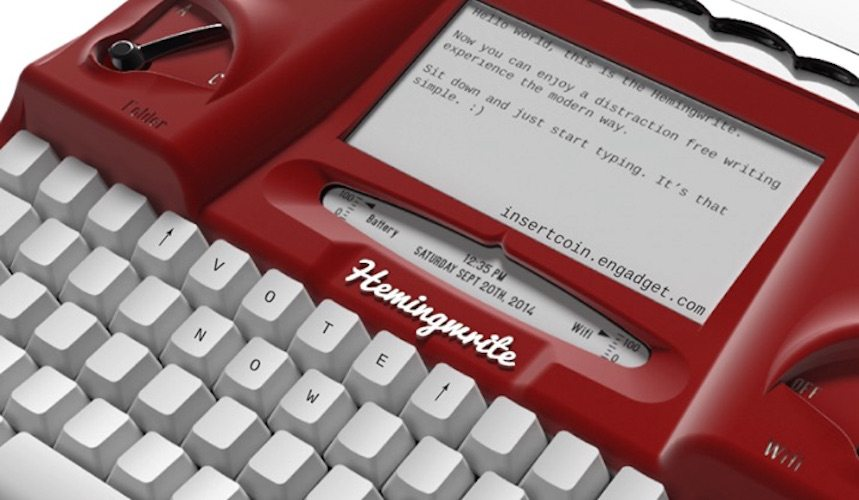 Hemingwrite – A Distraction Free Digital Typewriter