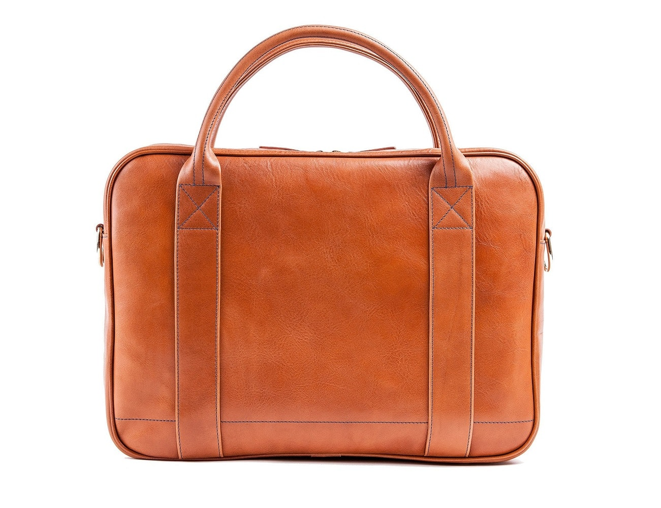 Leather Messenger Bag – Holds Your MacBook, Umbrella, iPad and More