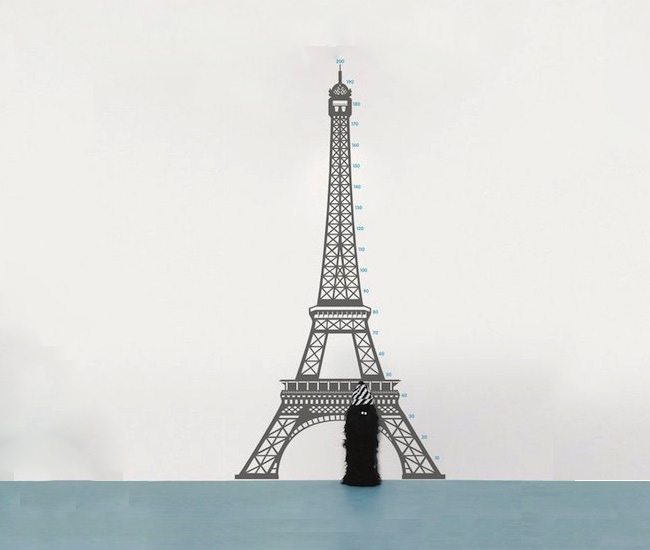 Measuring Paris Wall Sticker -