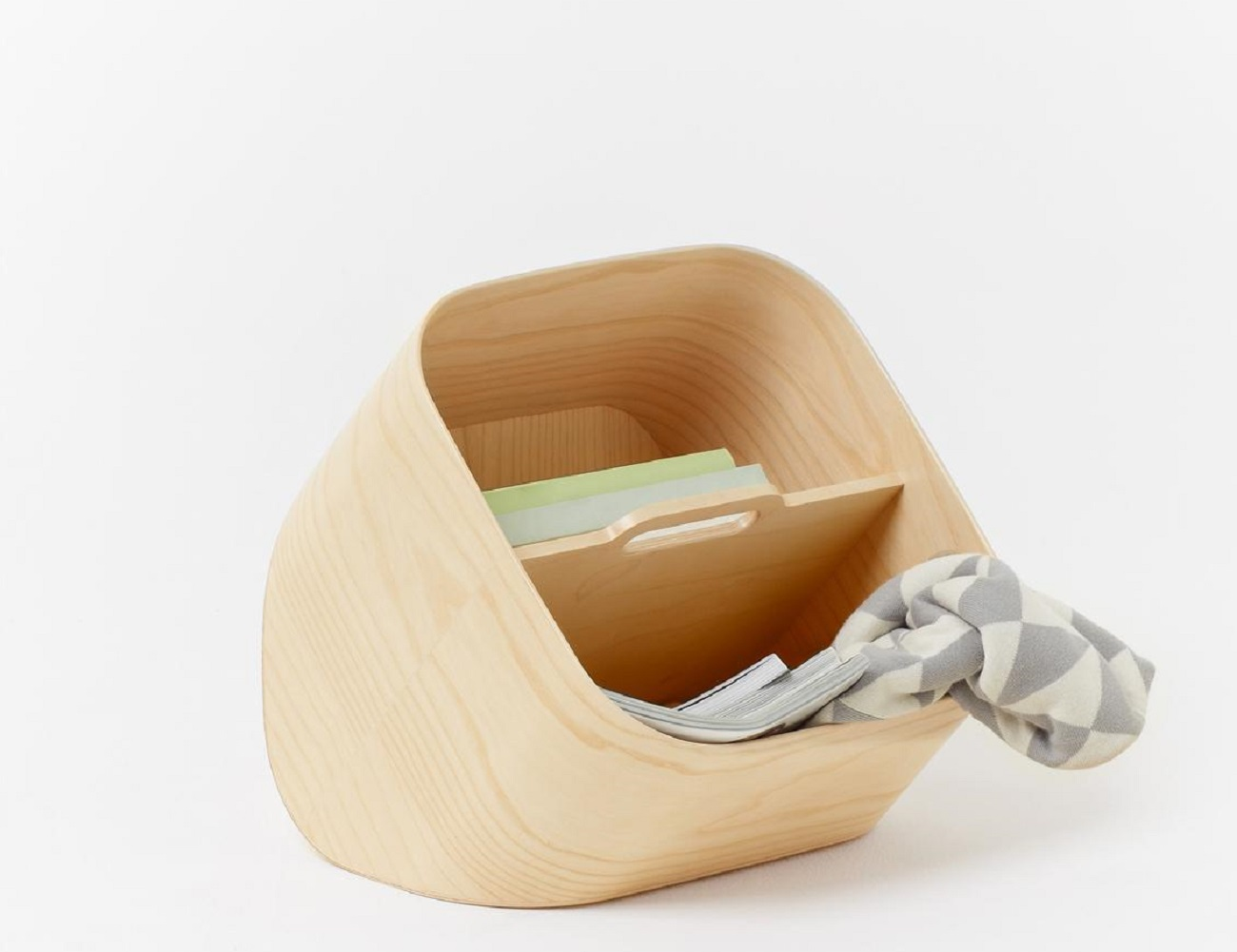 Mole Container – Magazine Rack Made of Natural Beechwood