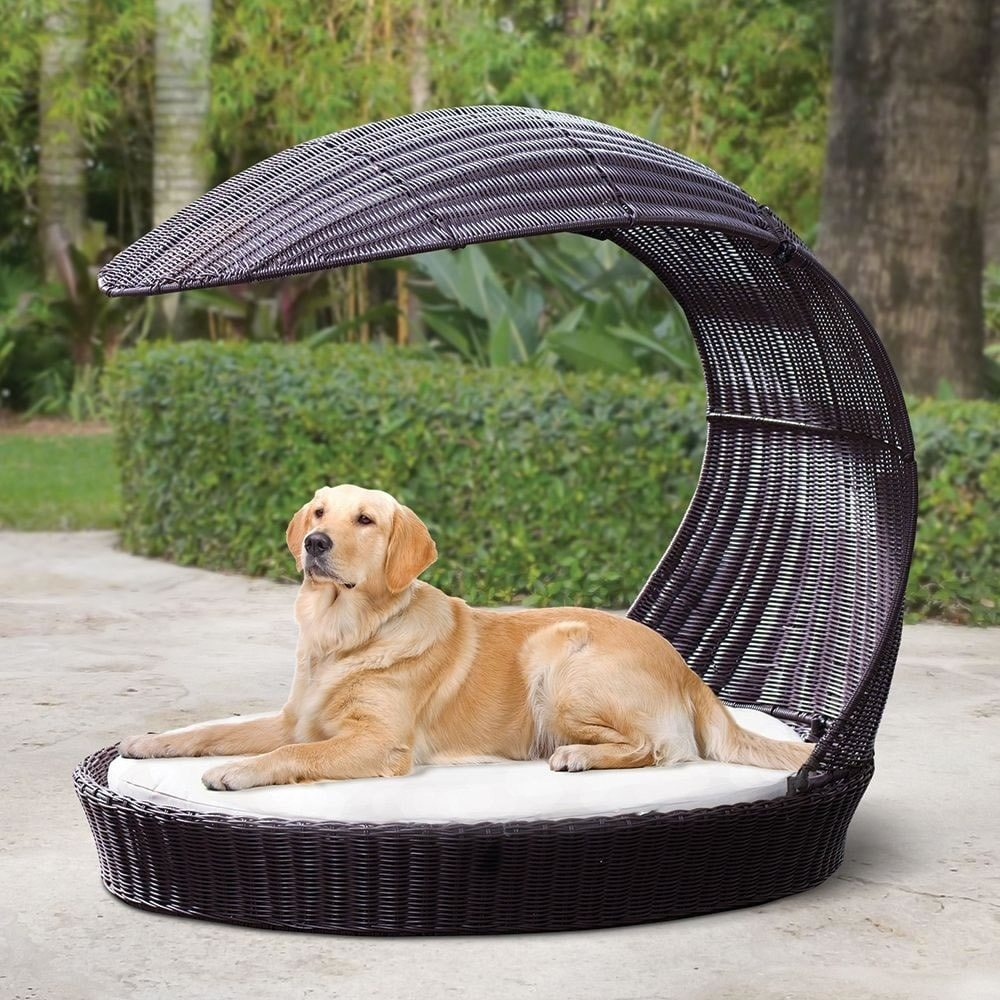 Outdoor Dog Chaise Lounger from The Refined Canine