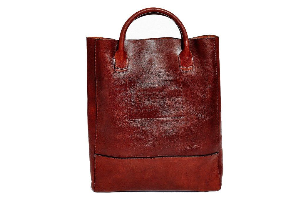 Oxblood Raw Tote by Libero Ferrero