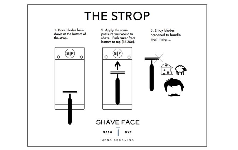 how to shave with the strop