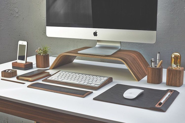 Walnut+Monitor+Stand