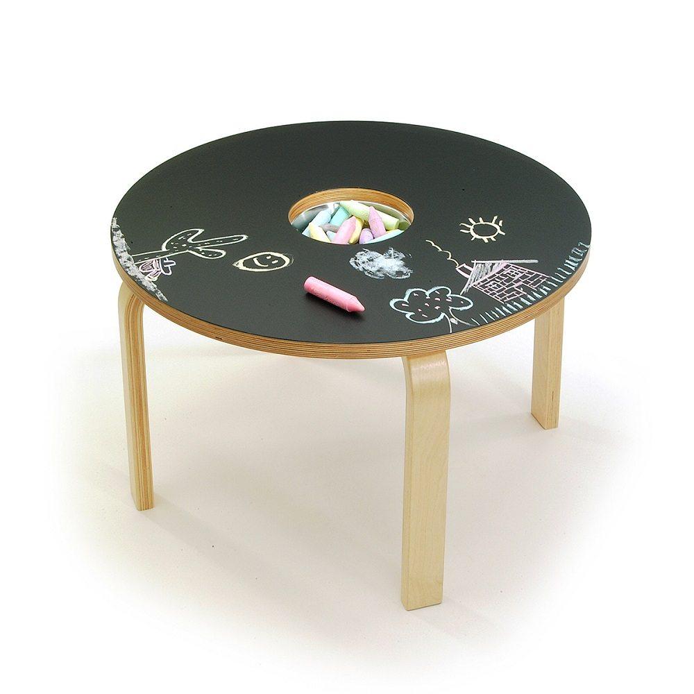 Woody Chalkboard Table