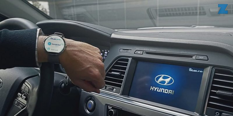 Hyundai Blue Link Android Wear smartwatch app