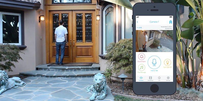 Kuna smart home security light fixture