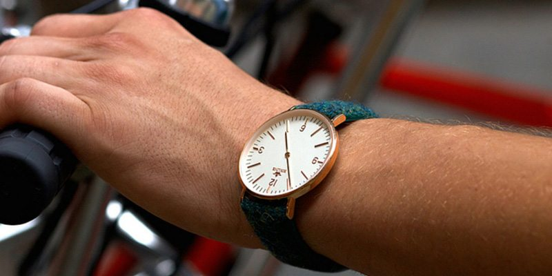 Birline watches with Harris Tweed straps