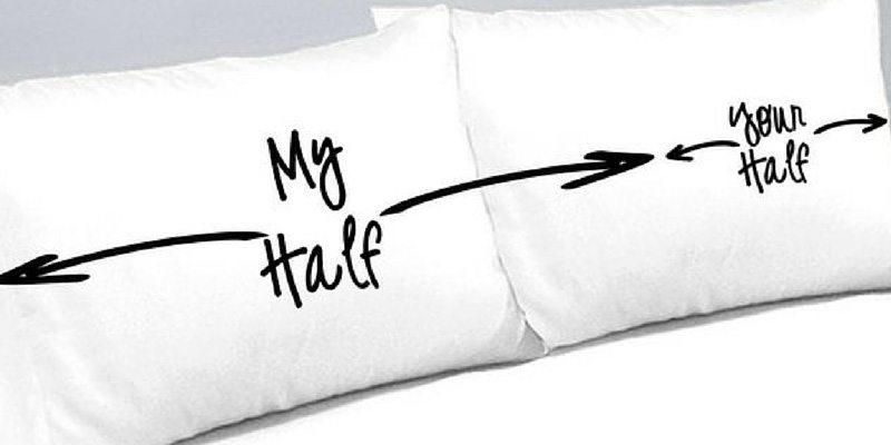 My Half Your Half Pillowcases