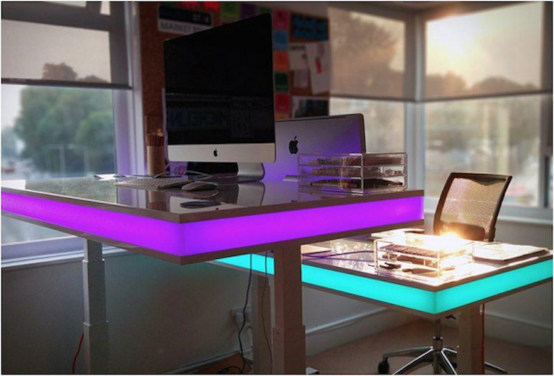 TableAir close up shot violet LED