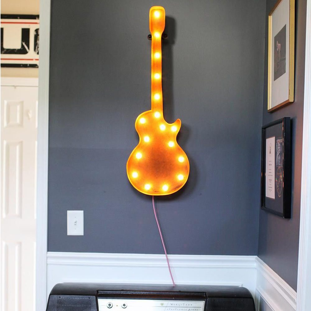 36″ Guitar by Vintage Marquee Lights