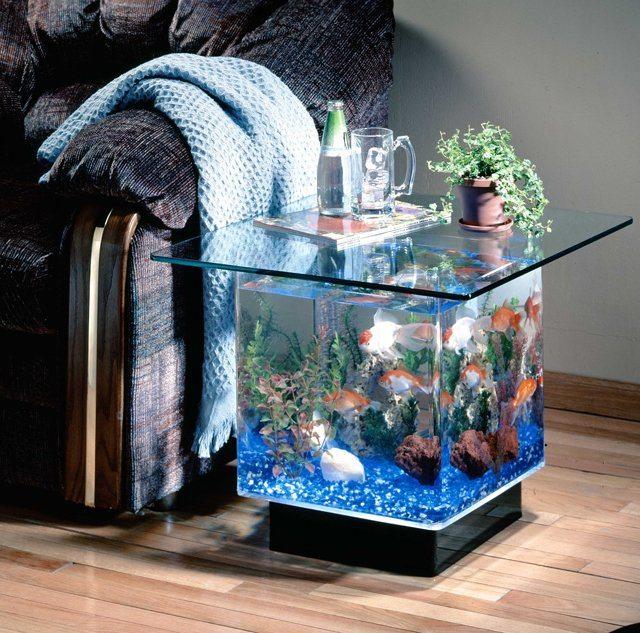 aqua end table aquarium gadget flow. Black Bedroom Furniture Sets. Home Design Ideas