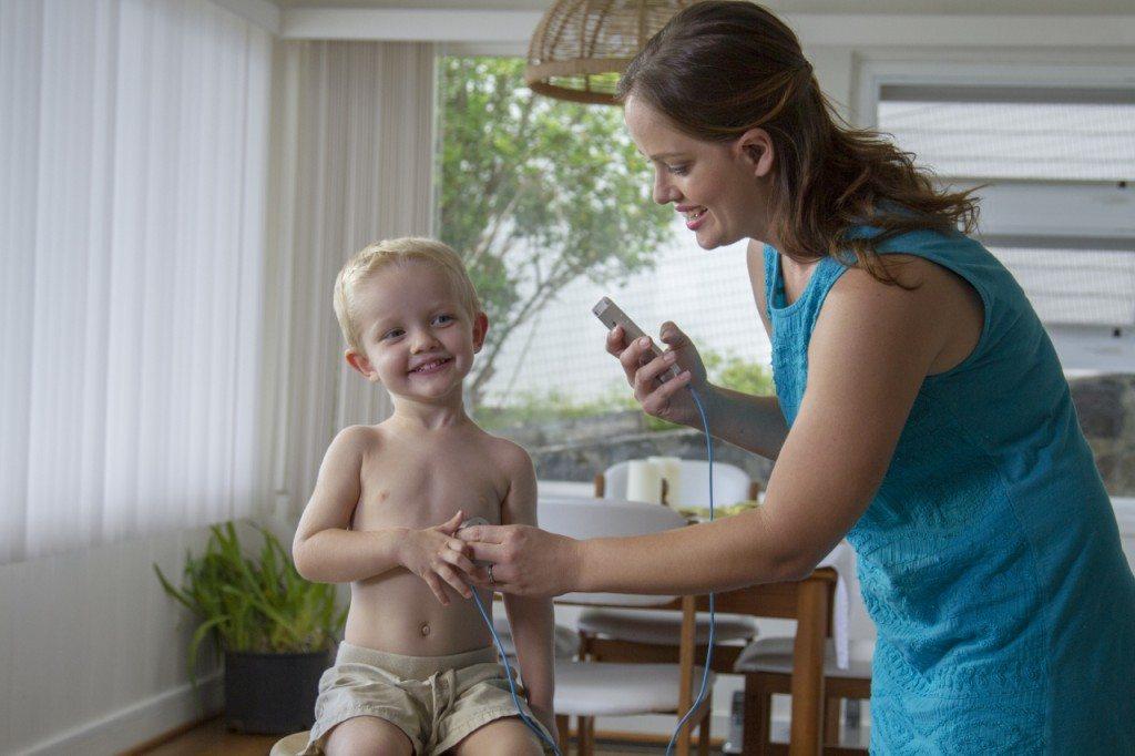 Stethoscope with child