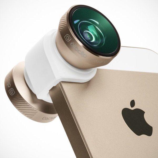 Gold Olloclip 4-in-1 iPhone 6/6 Plus Lens