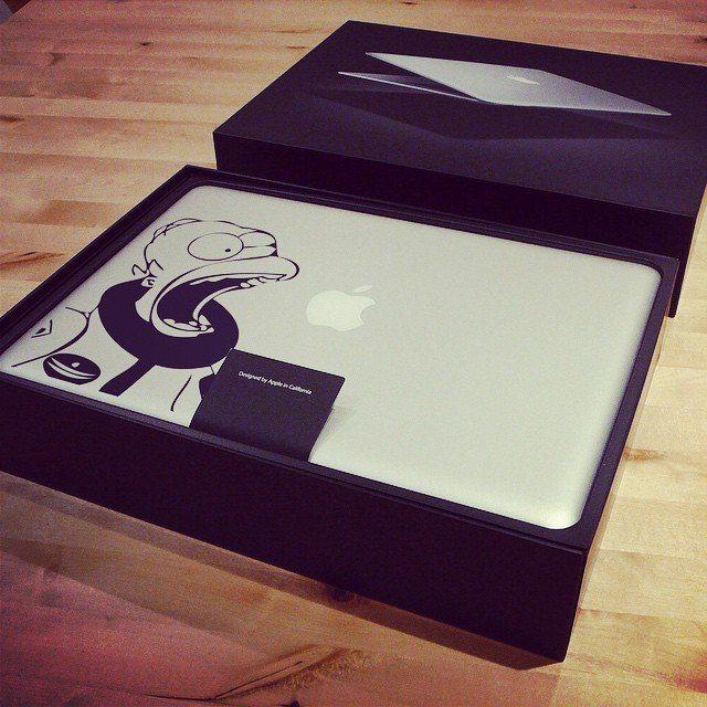Homer+Astronaut+MacBook+Decal