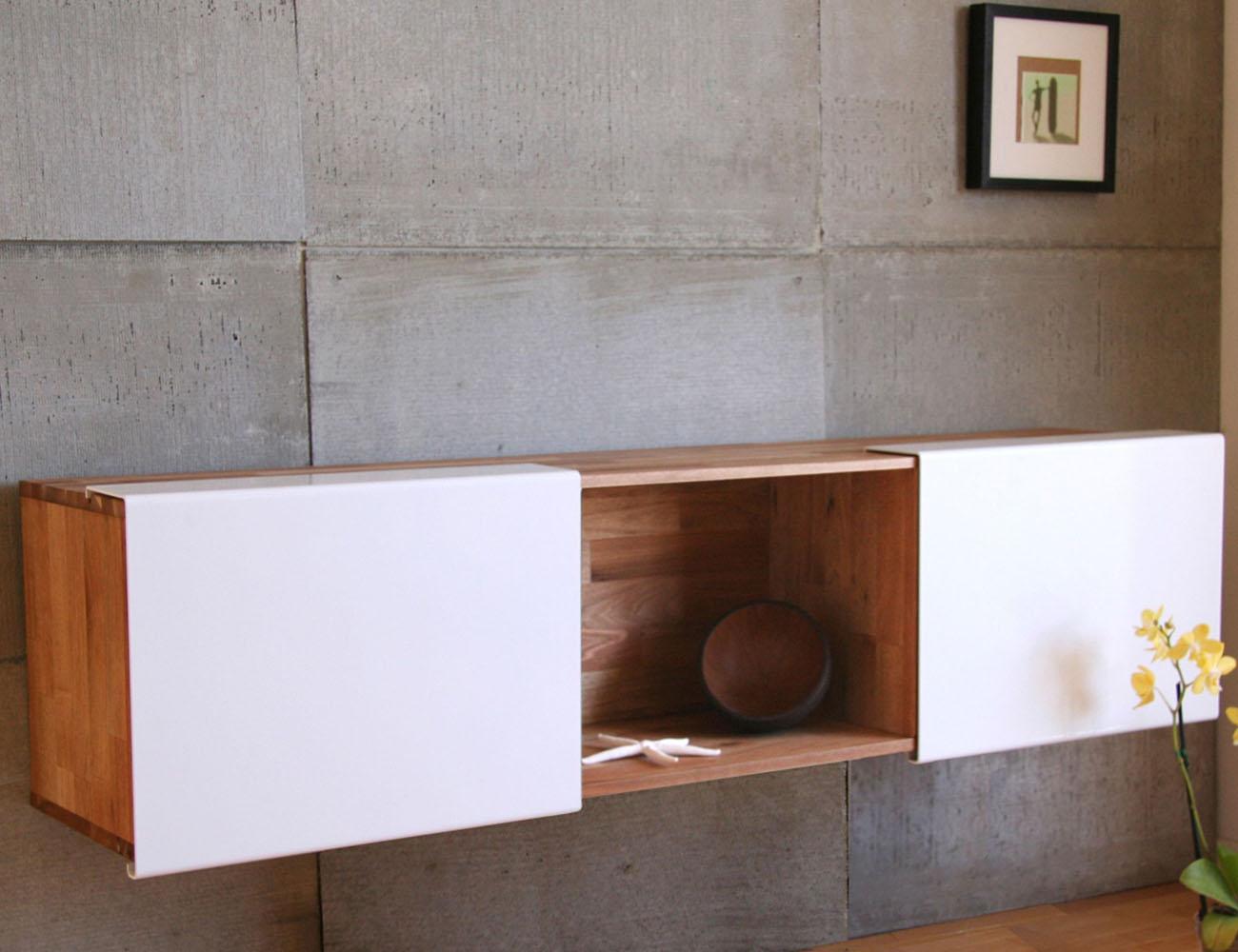 Lax series floating wall shelf by mash studios gadget flow for Mash studios lax
