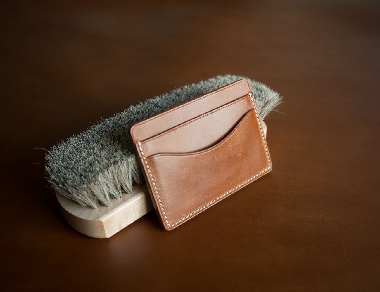 Leather Card Holder by Clark & Madison loading=
