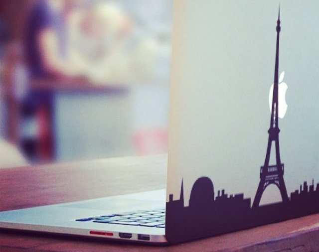 Paris in Love MacBook Decal