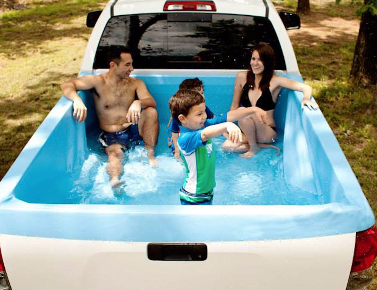 Pickup pools a truck bed swimming pool gadget flow How to make swimming pool water drinkable