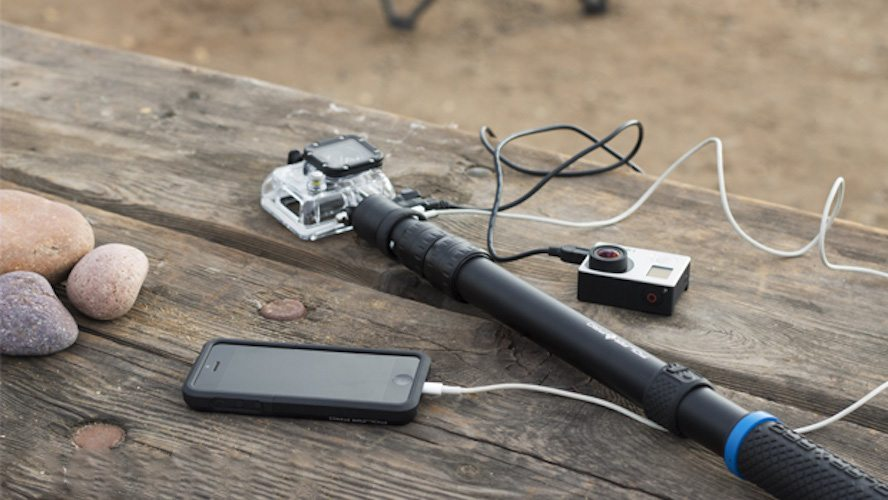 PowerPole-Battery Integrated GoPro Pole