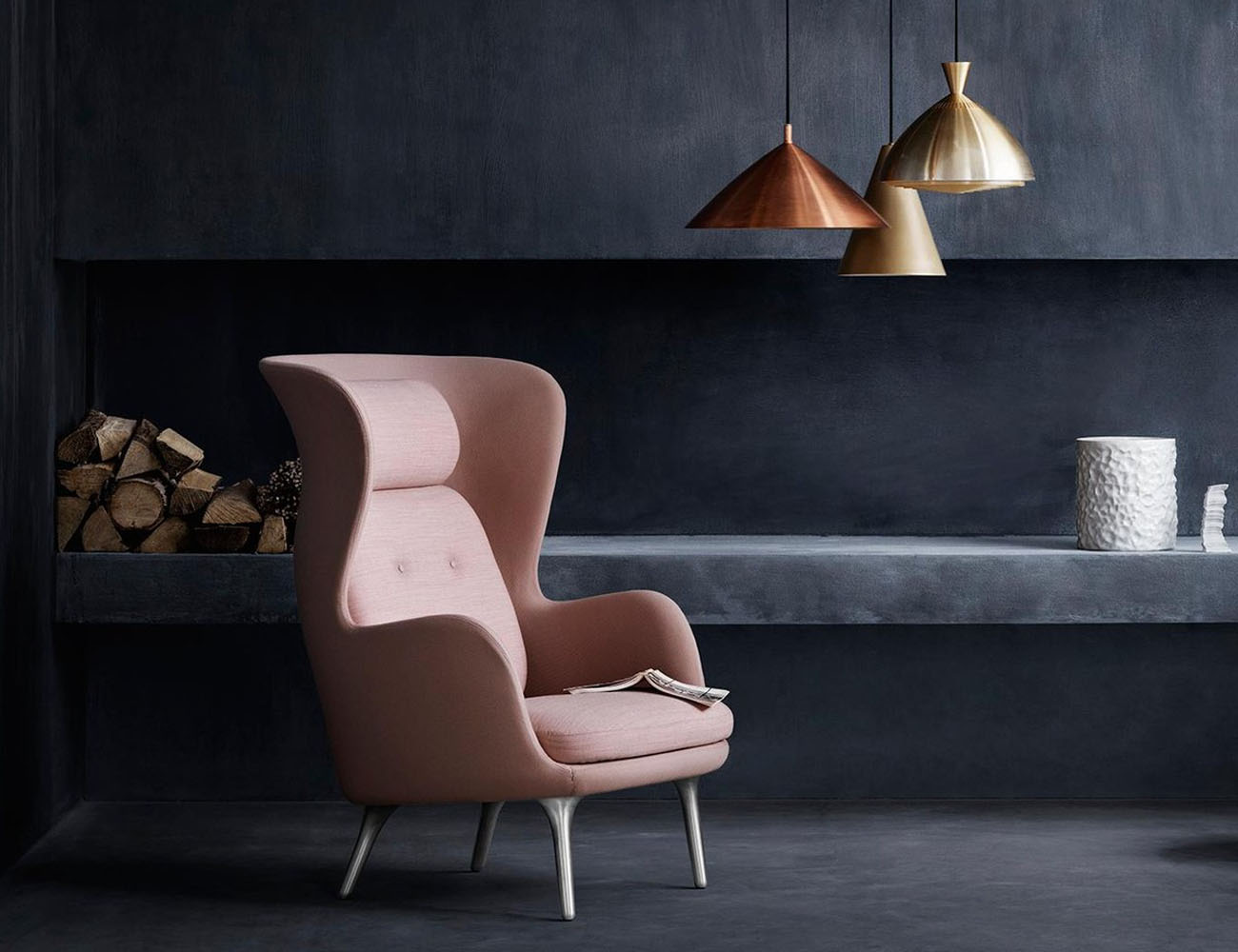 Ro Wingback Chair by Fritz Hansen