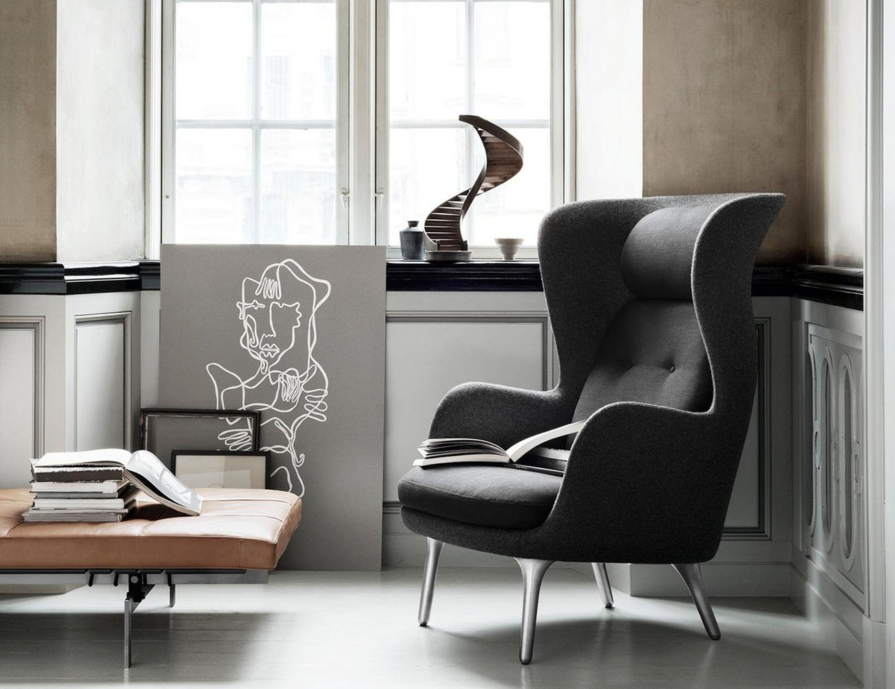 Ro Wingback Chair by Fritz Hansen
