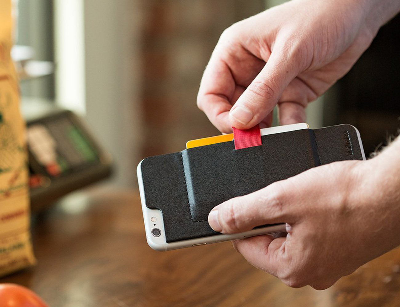 Wally Stick-On Wallet for iPhone 6/6s
