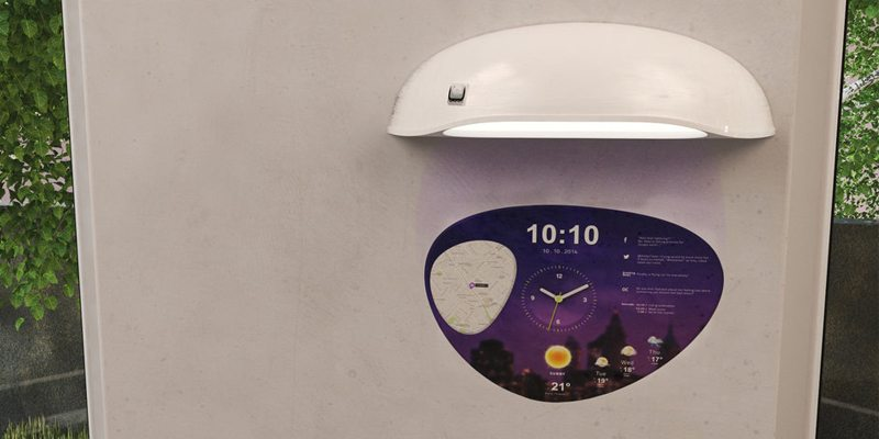 Coolest Clock wall clock projection