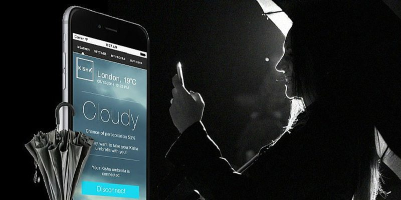 Kisha umbrella with smartphone app