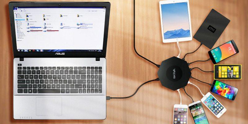 OctoFire 8 Port USB 3.0 Hub charging solution