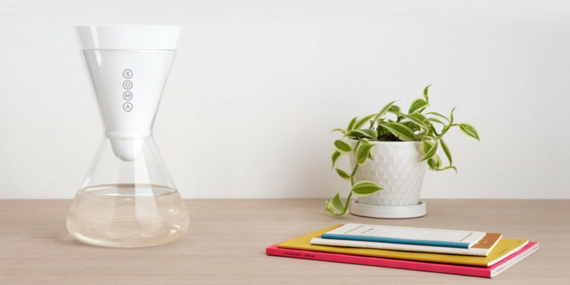 soma glass carafe water filter