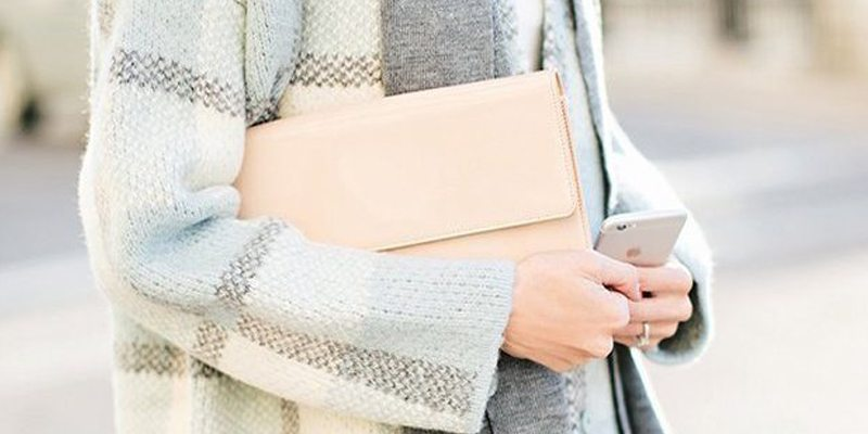 Patent Leather Clutch by Halogen