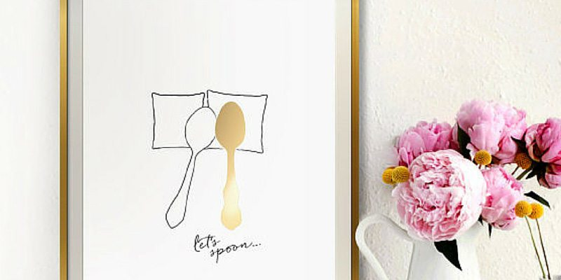 Gold Spooning Poster
