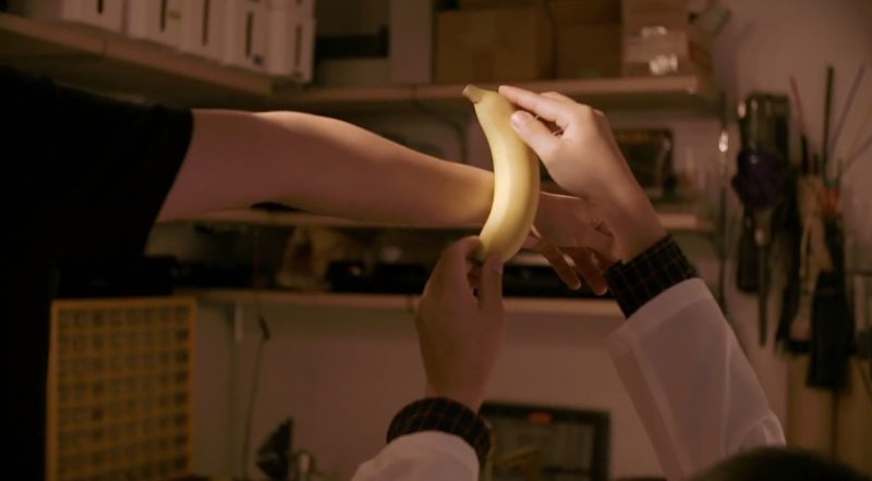 Dole edible wearable banana being tested
