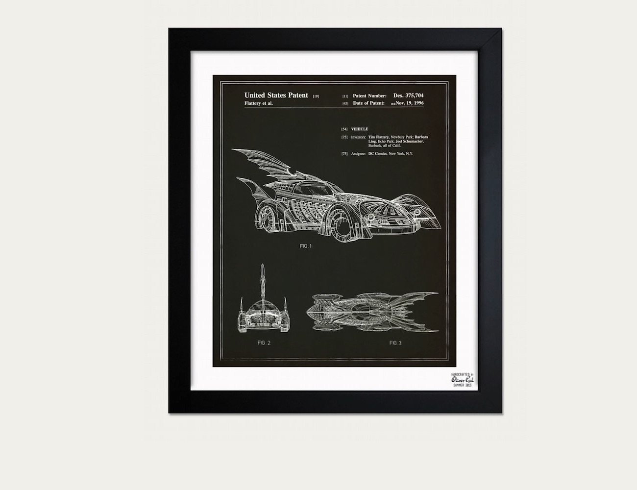 Batmobile 1996 Blueprint