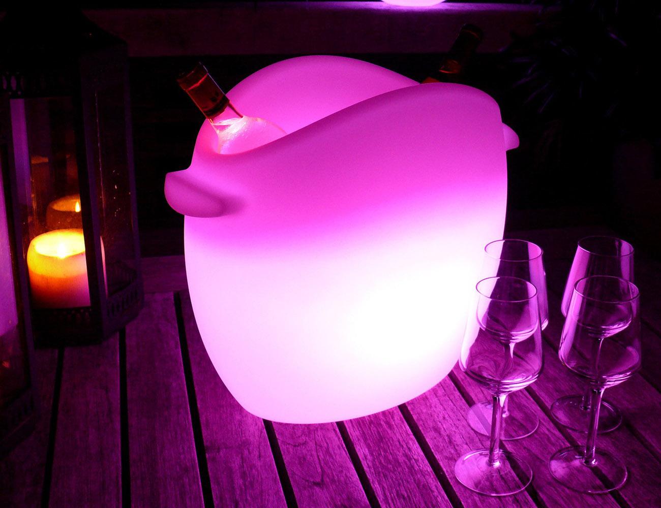 Fresh! LED Wine Cooler loading=