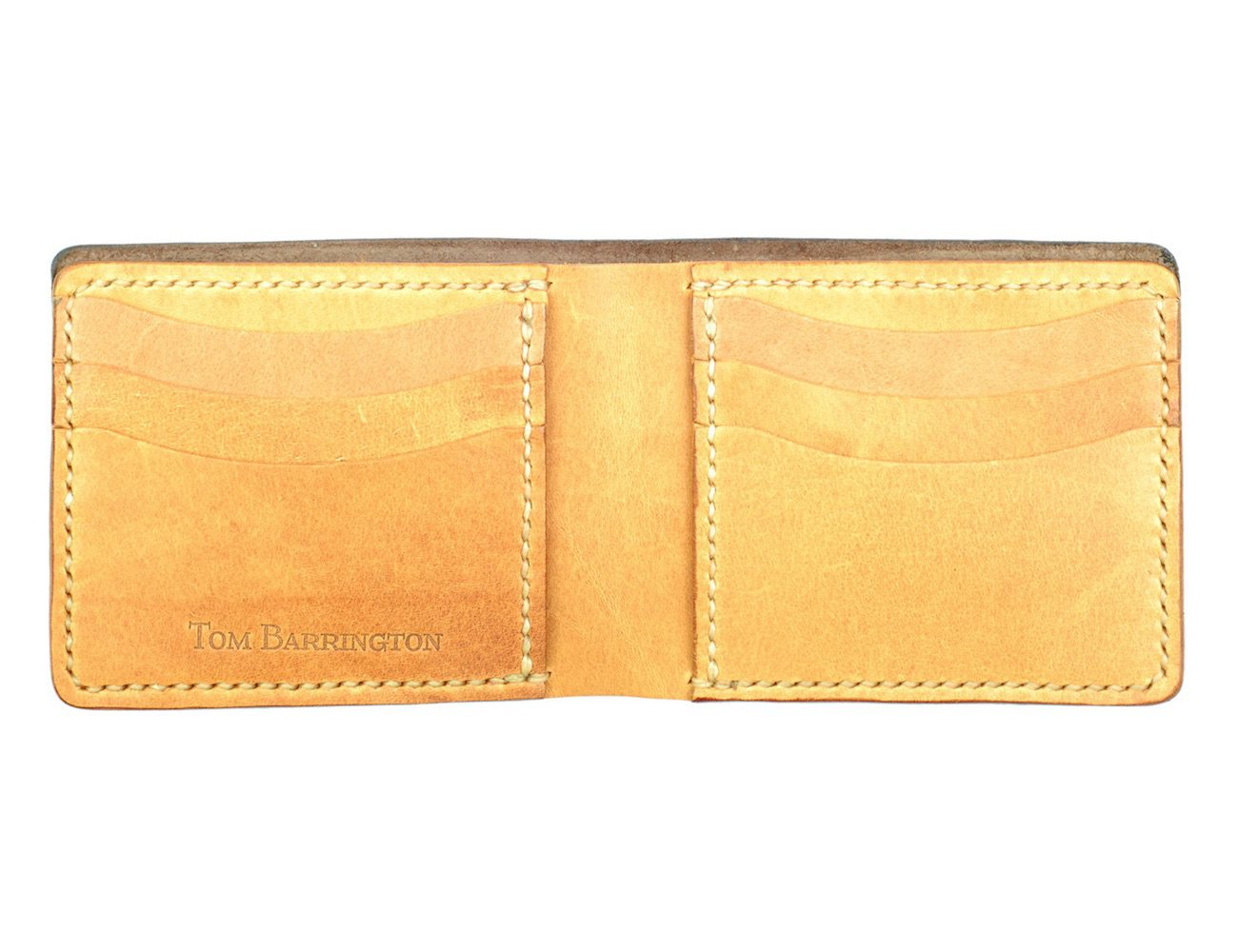 Handmade Brown Leather Bifold Wallet