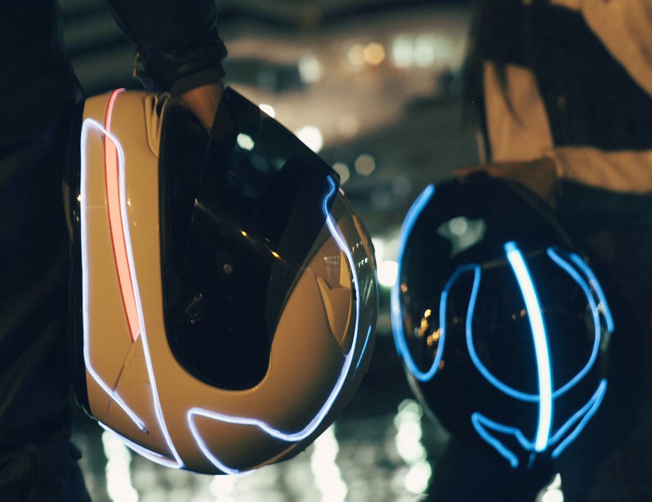 LightMode Electroluminescent Motorcycle Helmet Kit » Gadget Flow