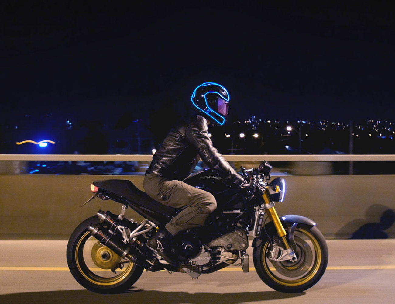 LightMode Electroluminescent Motorcycle Helmet Kit