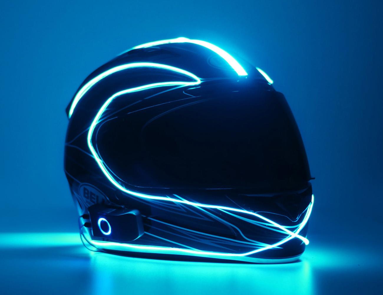 LightMode Electroluminescent Motorcycle Helmet Kit
