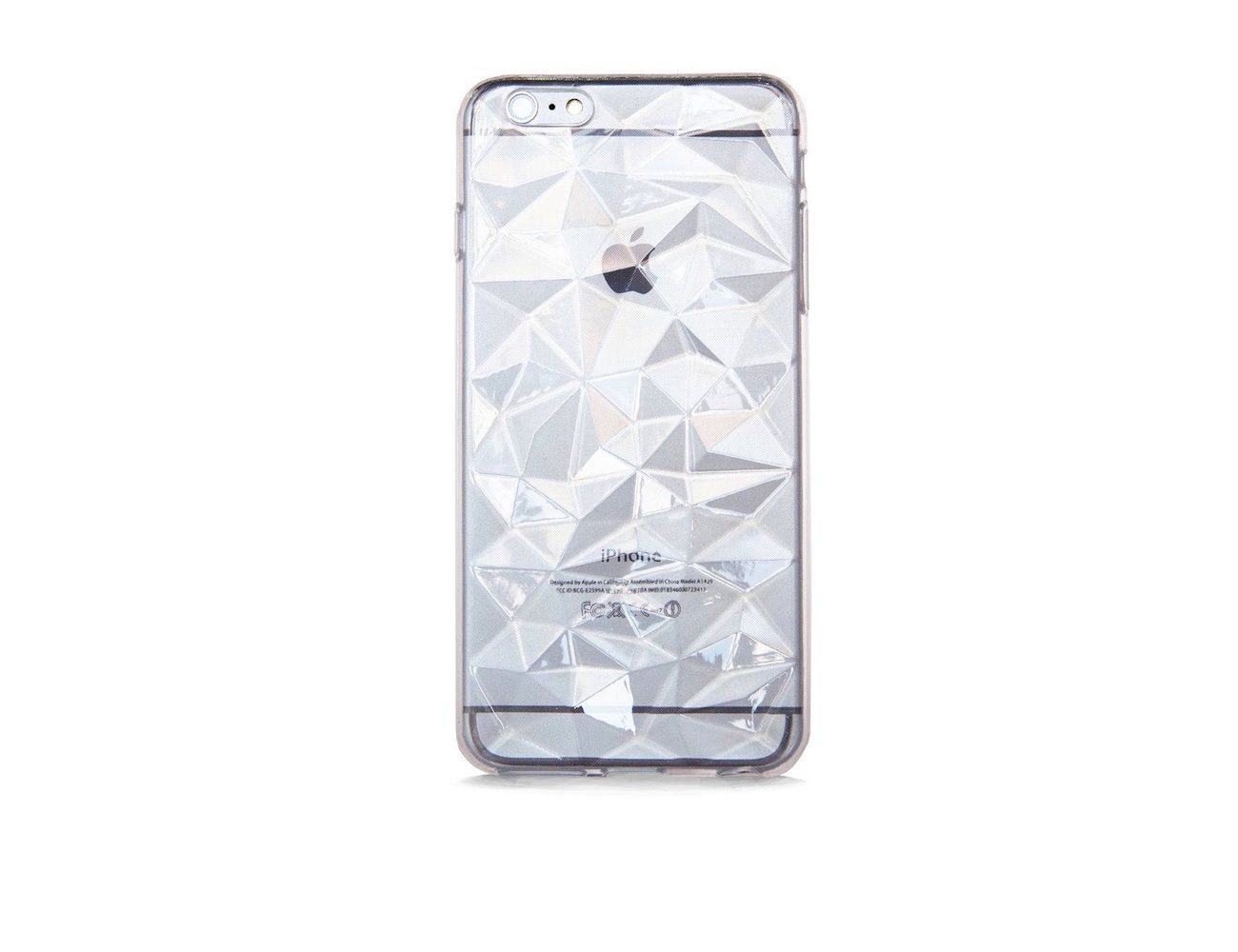 online store 67b60 1a337 Multi Faceted Clear Rubber iPhone 6 Plus Case