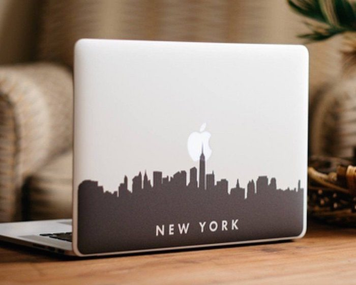 New York City Skyline Macbook Decal