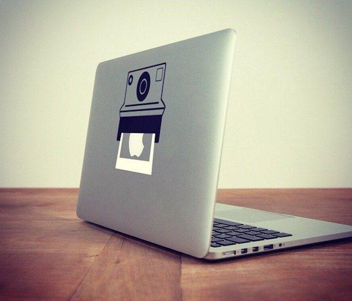 Polaroid Macbook Decal