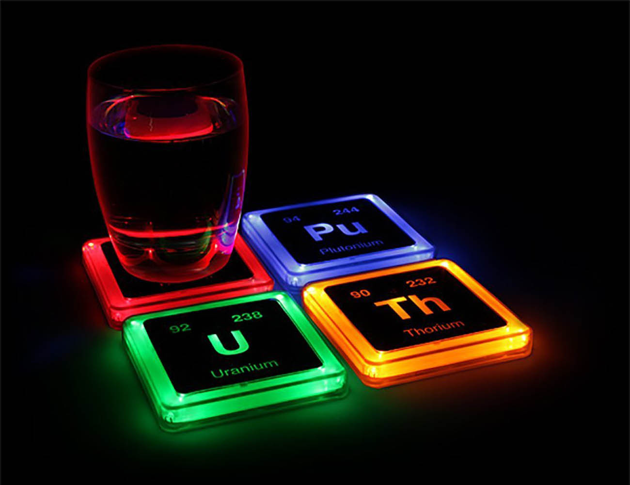 Radioactive+Elements+Glowing+Coaster+Set
