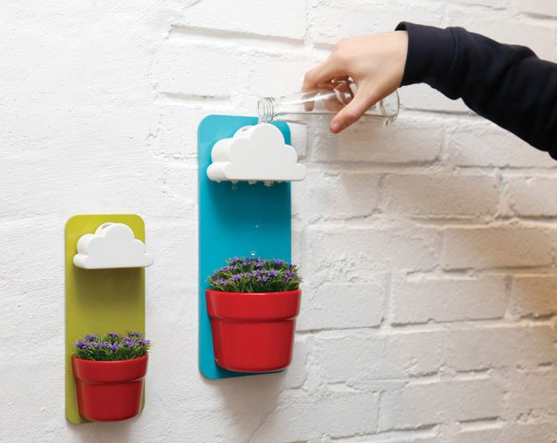 Rainy Pot – Wall Plant Pot With Cloud Shaped Watering Basin